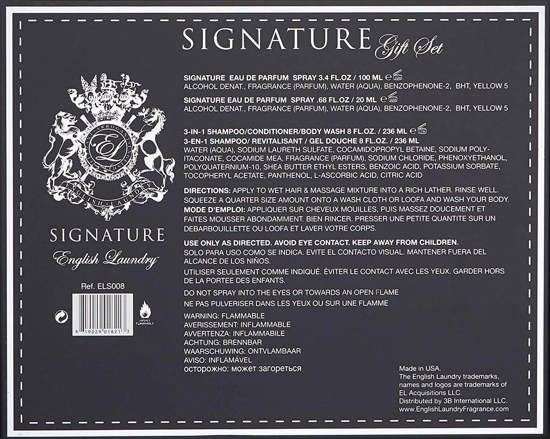 Buy Signature 3 Piece Gift Set English Laundry Fragrance